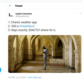 Organic content marketing by English Cathedrals