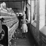A woman in an 18th century cotton mill