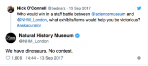 Organic content marketing by the Natural History Museum