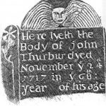 A grave rubbing from an old tomb