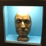 A copy of Oliver Cromwell's Death Mask, from Discovery Museum