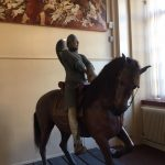 Statue of a Norman soldier on horseback