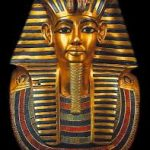 The funeral mask of Egyptian king Tutankhamun