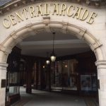 The arched entrance to the Central Arcade, designed by Richard Grainger