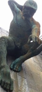 Close up of the statue of the god of the River Tyne