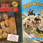 Front covers of two annuals - the Broons and Oor Wullie