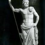 statue of Poseidon, god of water
