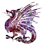 A red and purple dragon