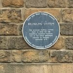 The Blue Plaque at Branding Railway Station