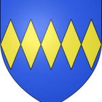 Yellow diamonds on a blue background - the Percy family crest