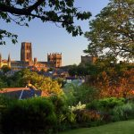 Durham Cathedral seen from a distance on a sunny day