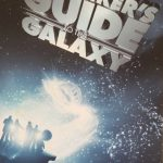 "The front cover of the novel ""The Hitchhiker's Guide to the Galaxy"" by Douglas Adams"