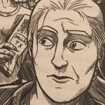A pencil sketch of a woman's face