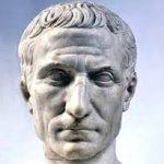 A bust of Julius Caesar
