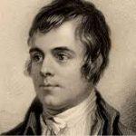 An illustration of the Scottish poet Robert Burns