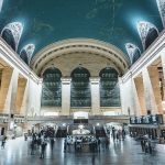 The vaulted ceiling of Grand Central Station