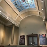 A decorative glass window in a domed ceiling, Laing Art Gallery