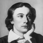 A black and white drawing of poet John Keats